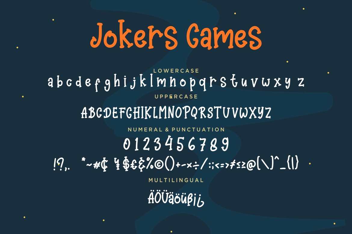 Jokers Games Child Play Typeface example image 7