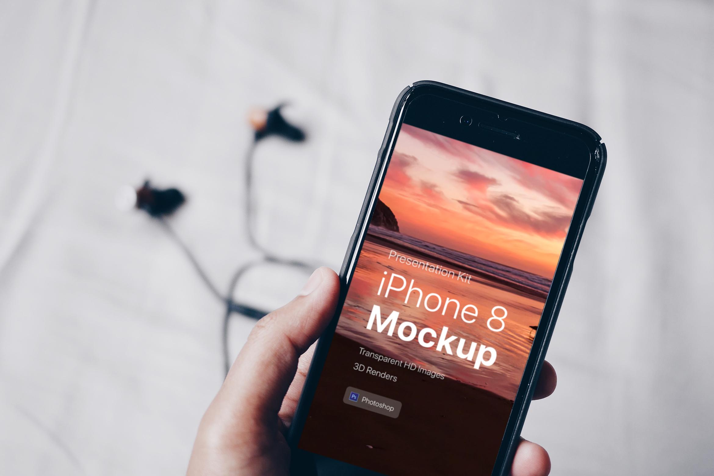 Presentation Kit - iPhone showcase Mockup_v8 example image 5