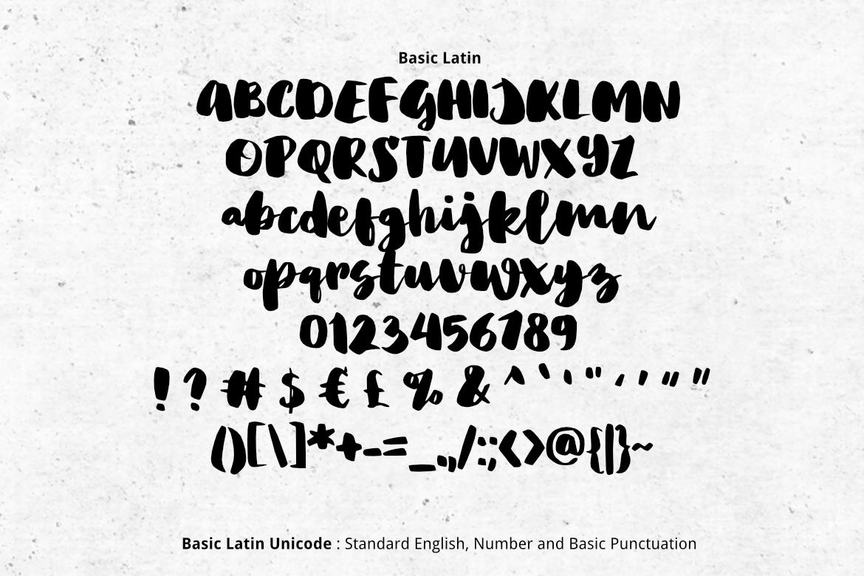 Big Fat Brush Font example image 2