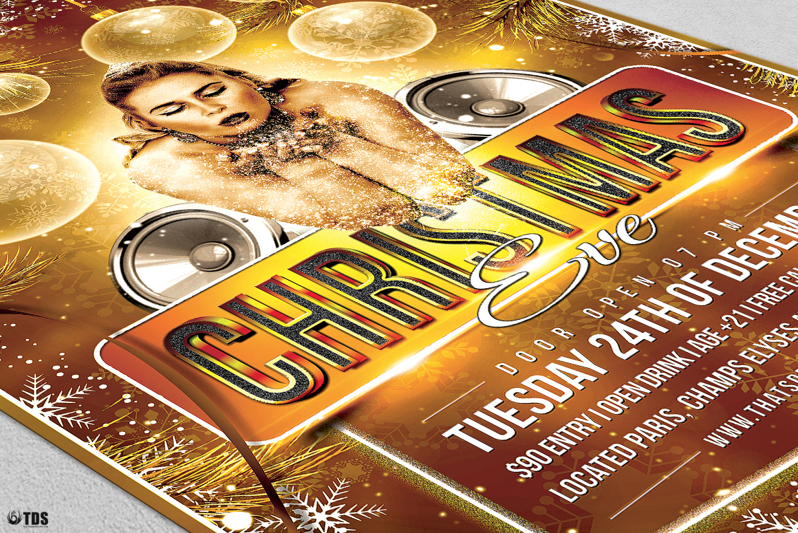 Christmas Eve Flyer Template V4 example image 6
