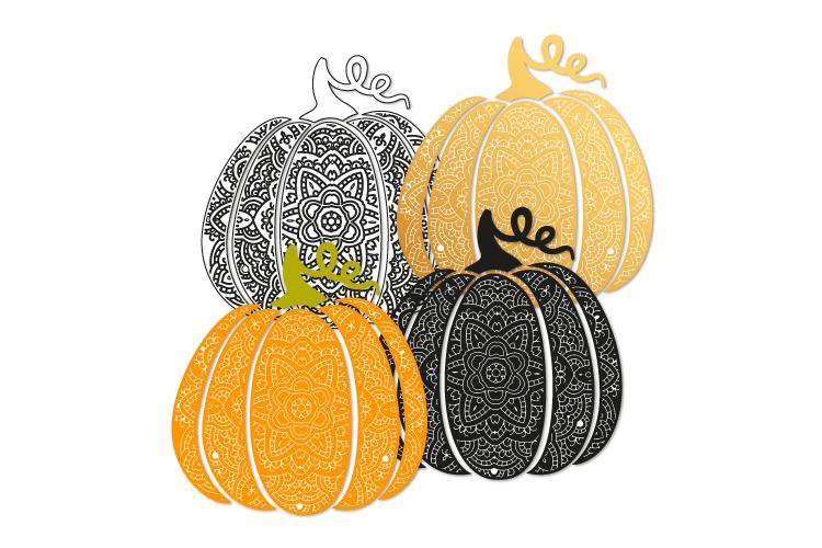 Bohemian pumpkin svg. Fancy pumpkin example image 2