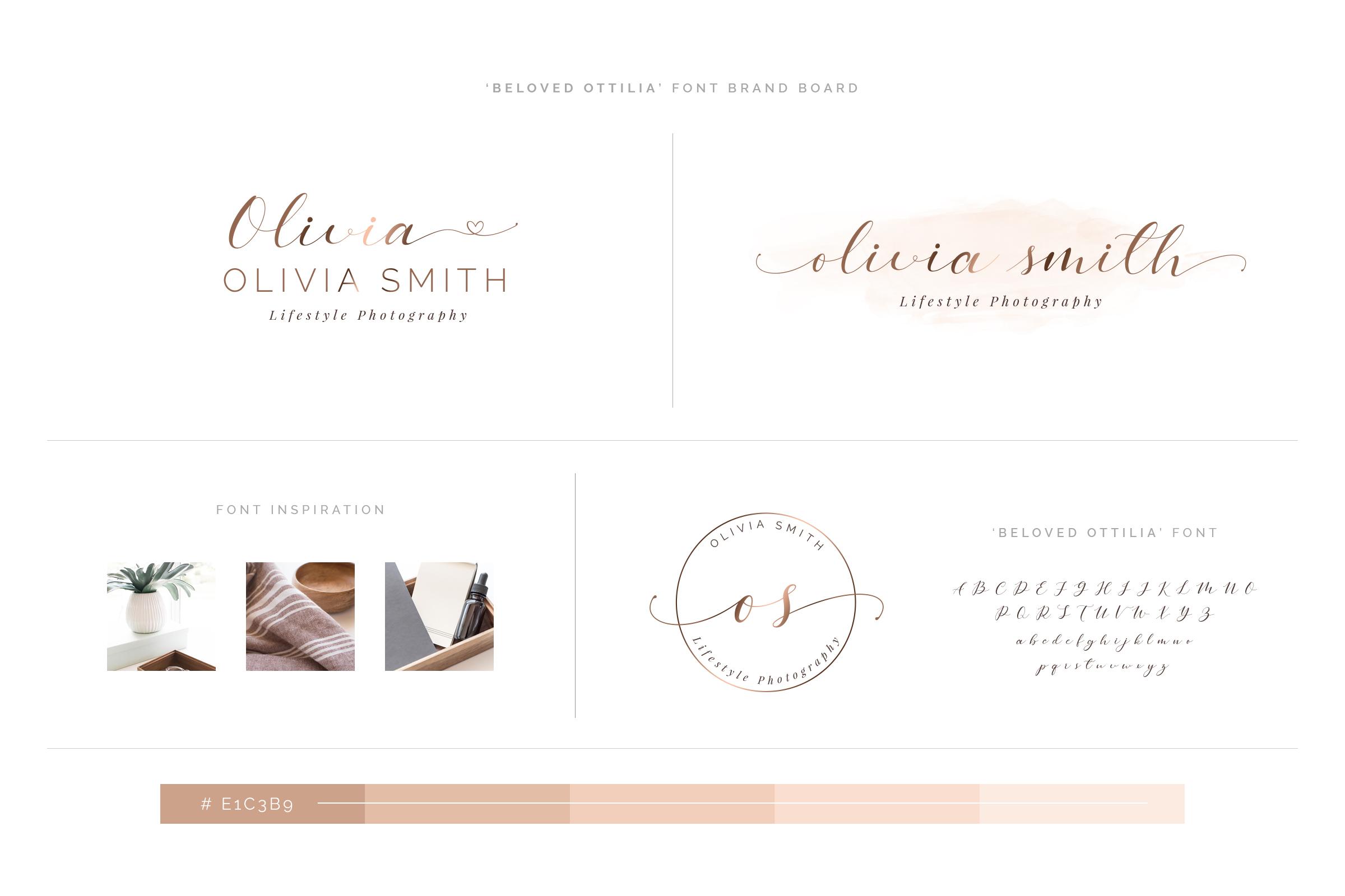 Beloved Ottilia Font 60 Free Logos example image 8