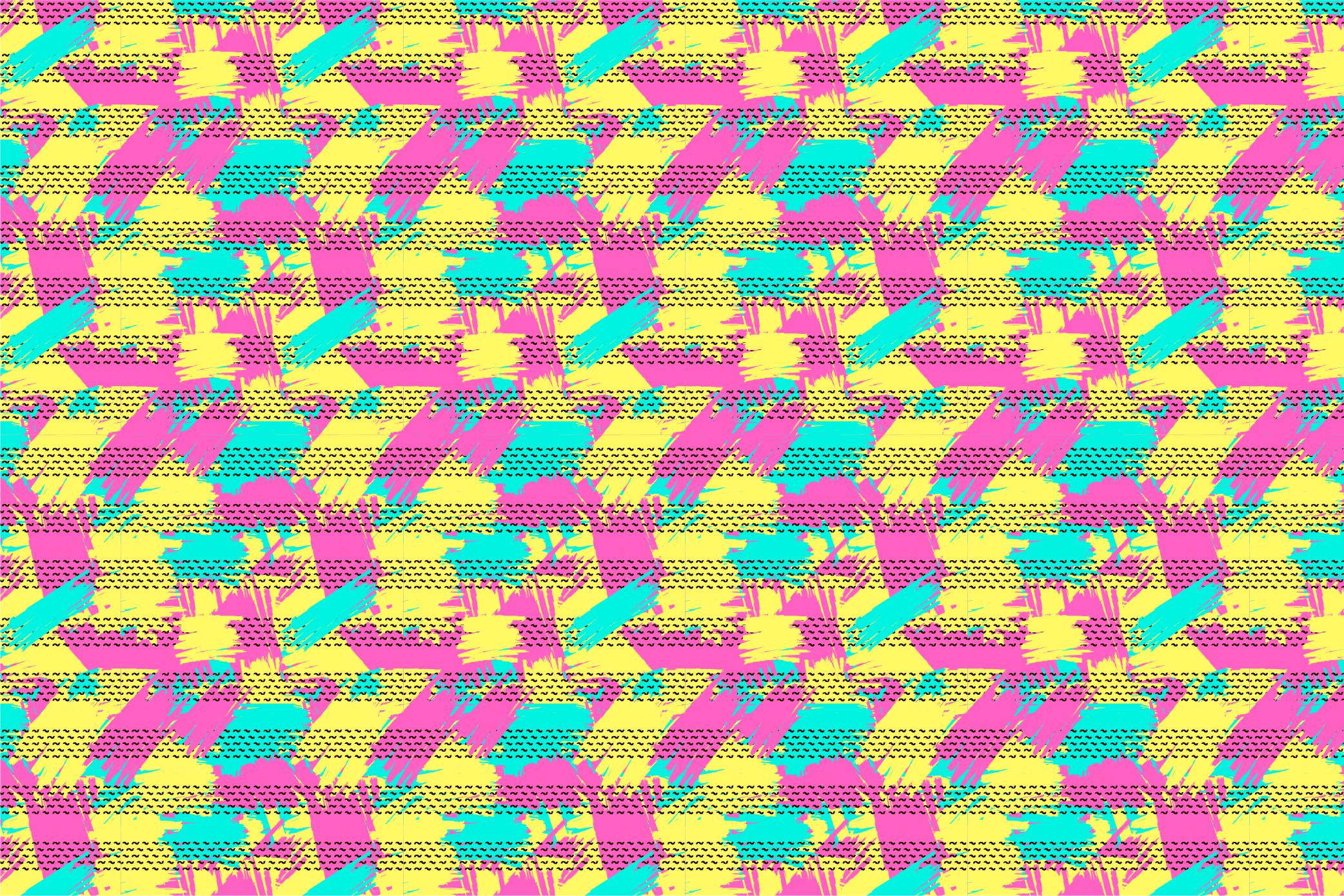 9 Geometric seamless patterns. Ai, EPS, JPG, SVG example image 5