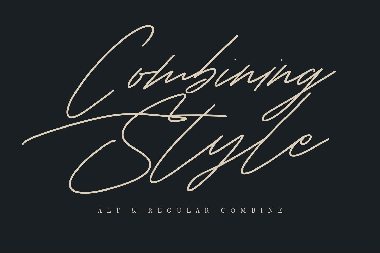Shaloems Handwritten Signature Font example image 5