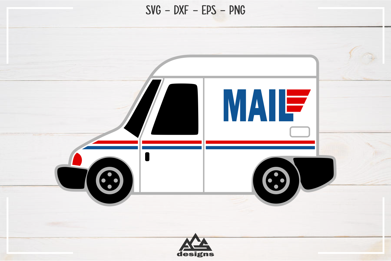 Mail Truck Svg Design example image 3