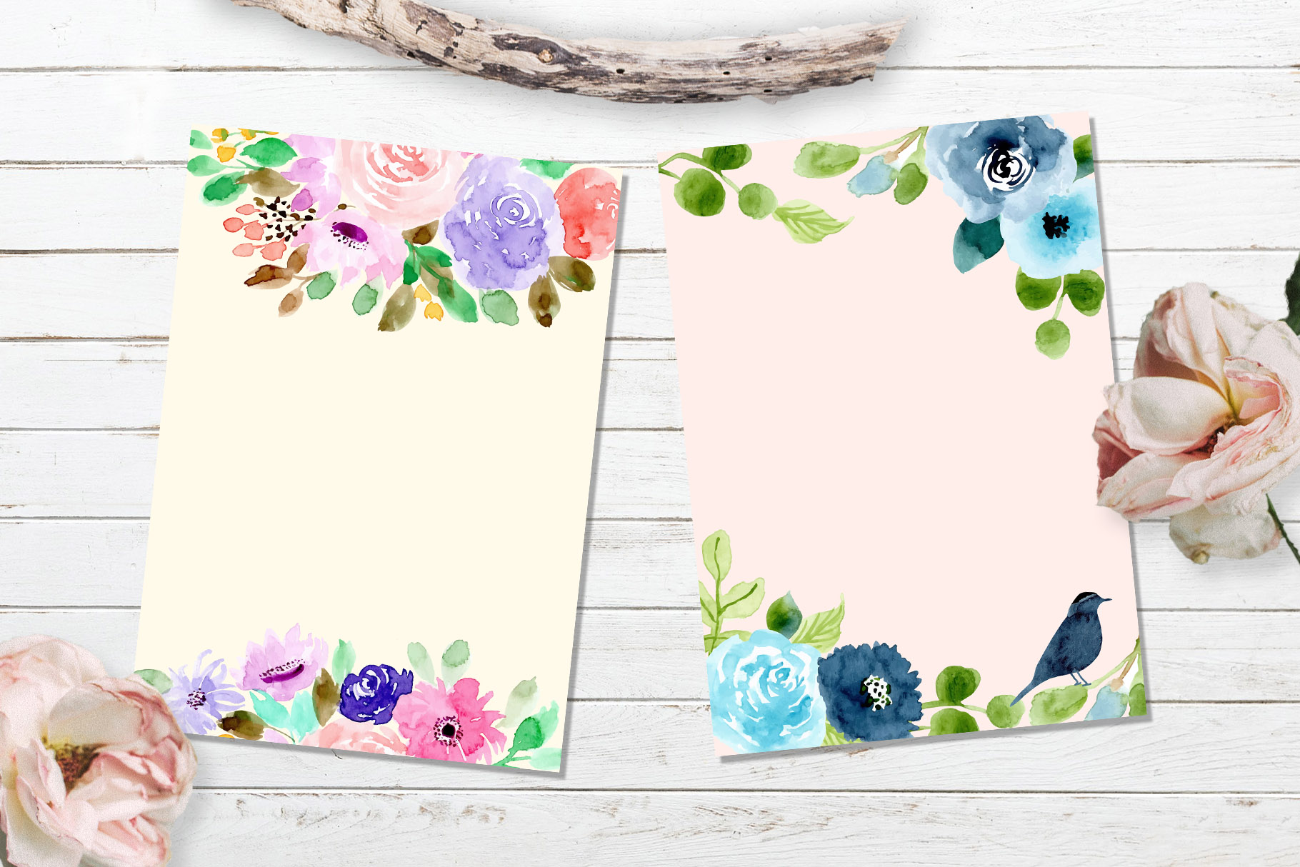 Floral Invitation Backgrounds Vol.3 example image 4