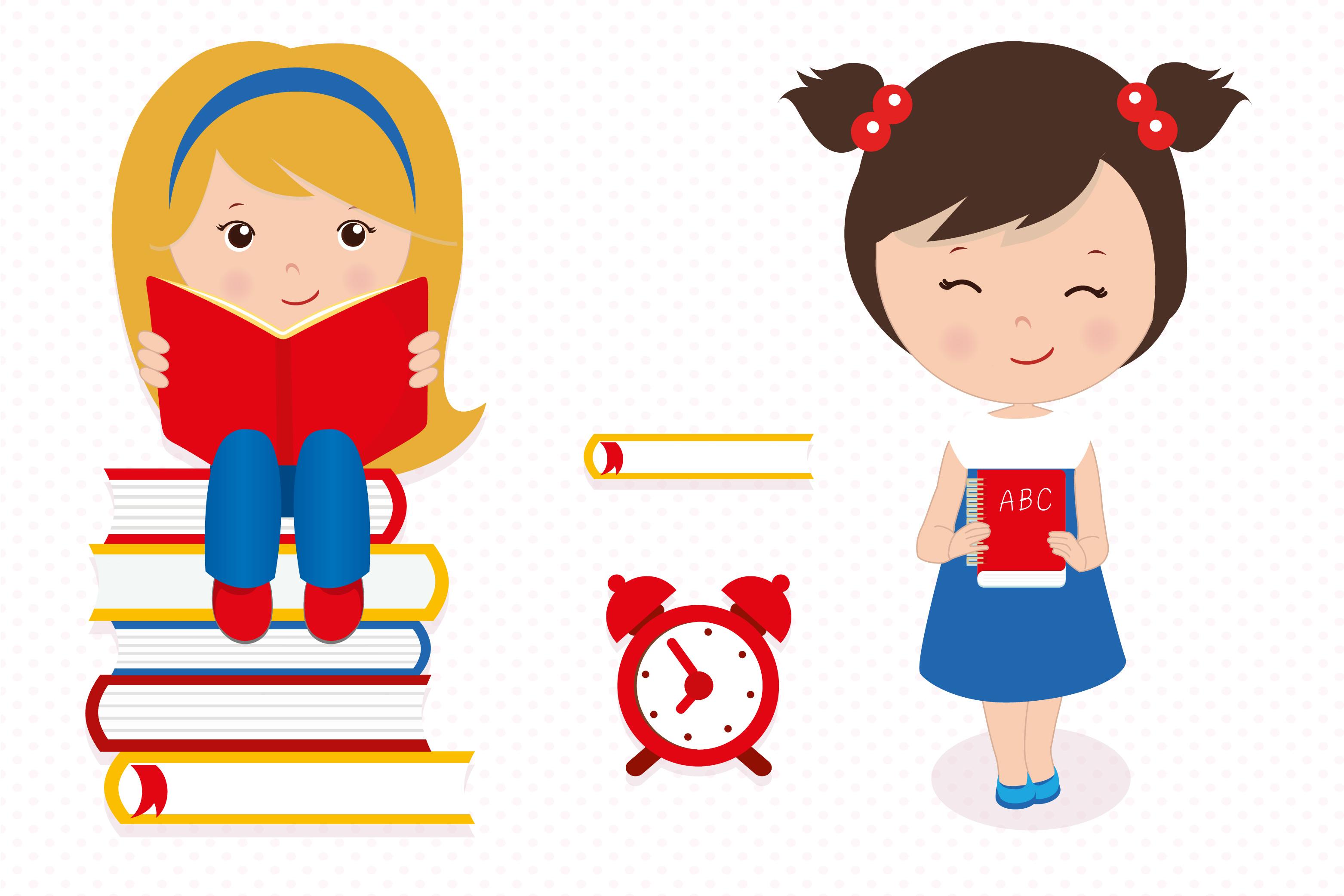 Hello school graphics, School digital papers example image 2