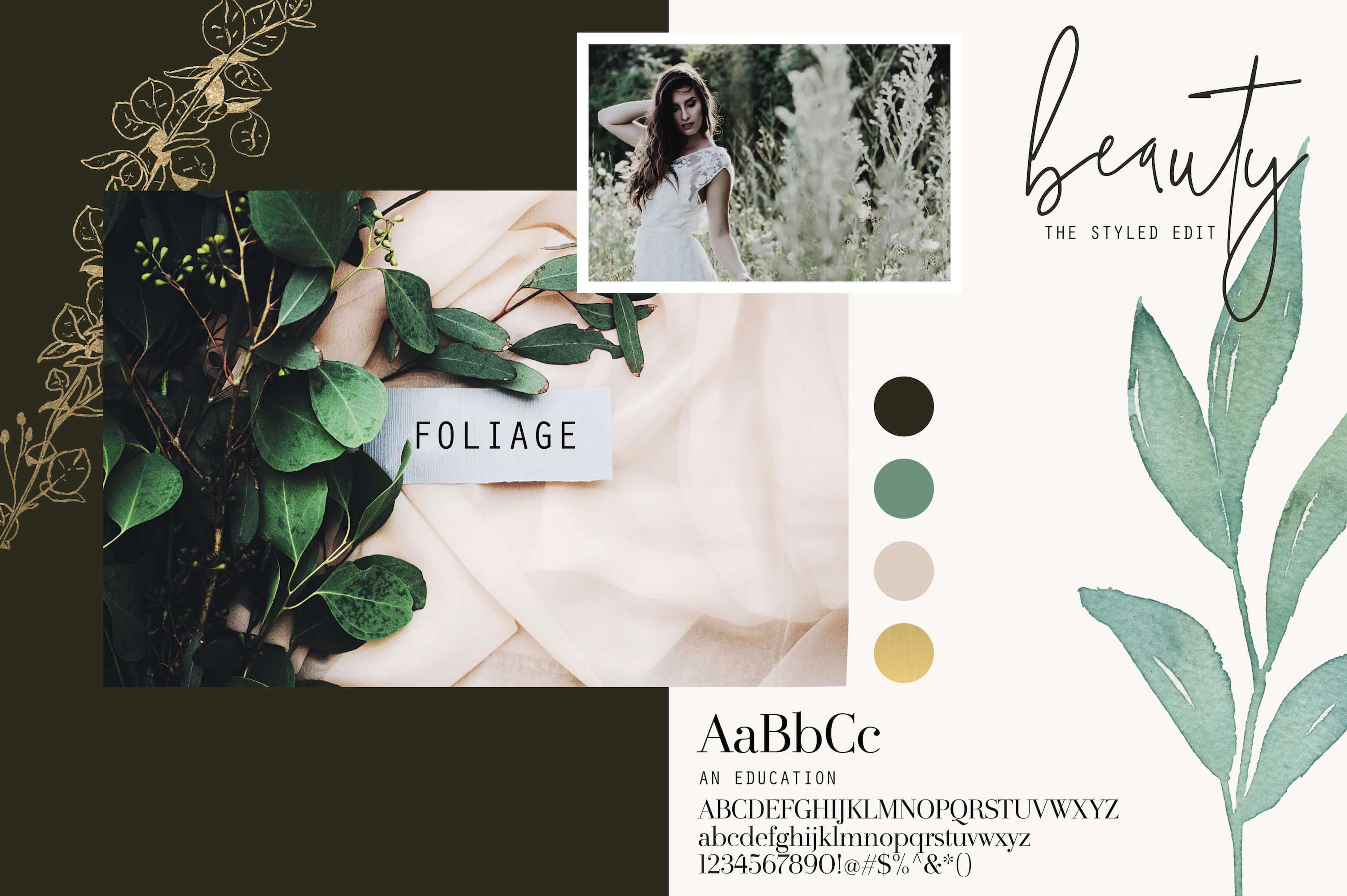 Foliage and Foil Botanical Clipart example image 7