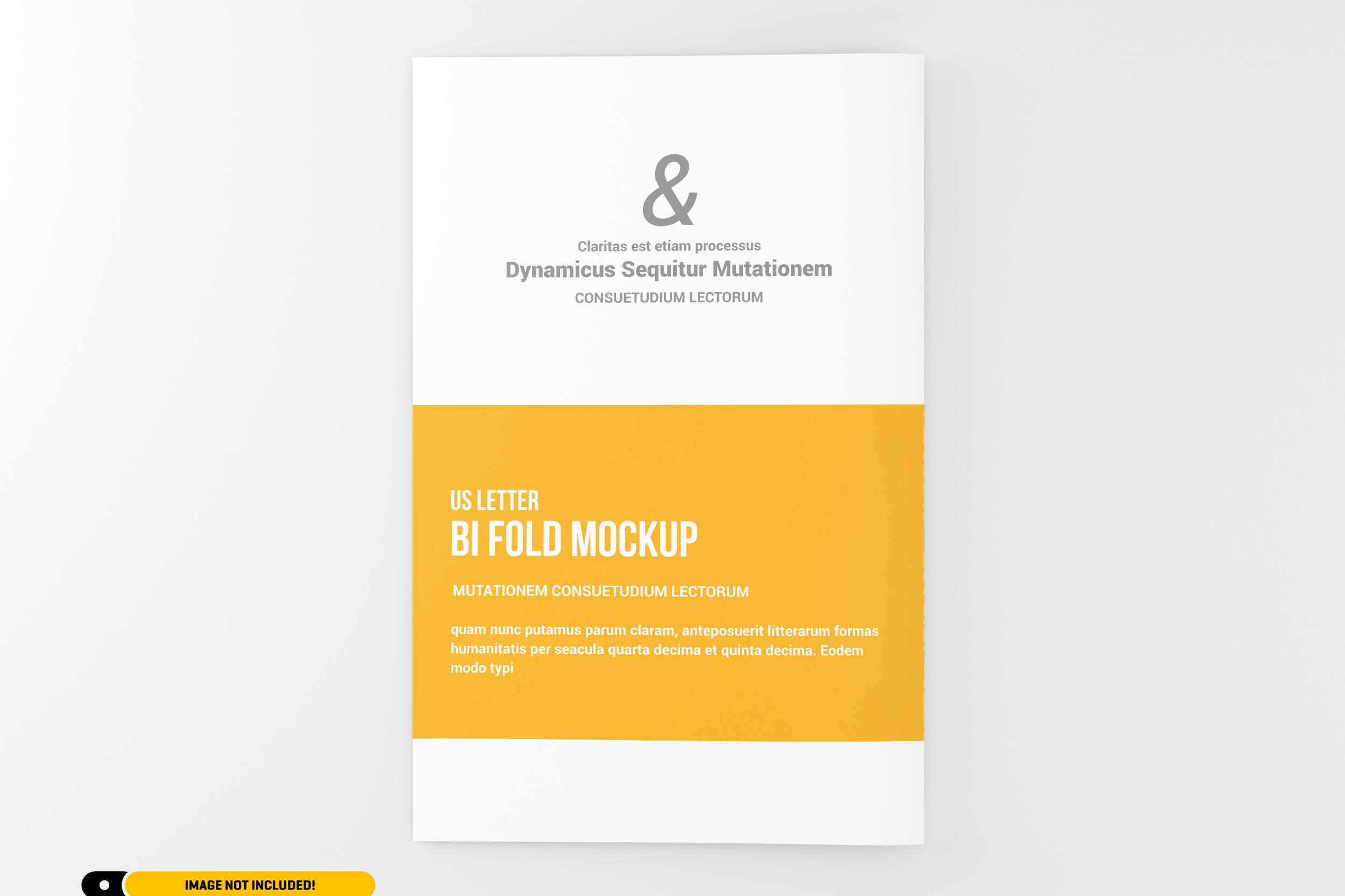 US Letter Bifold Brochure Mockup example image 10