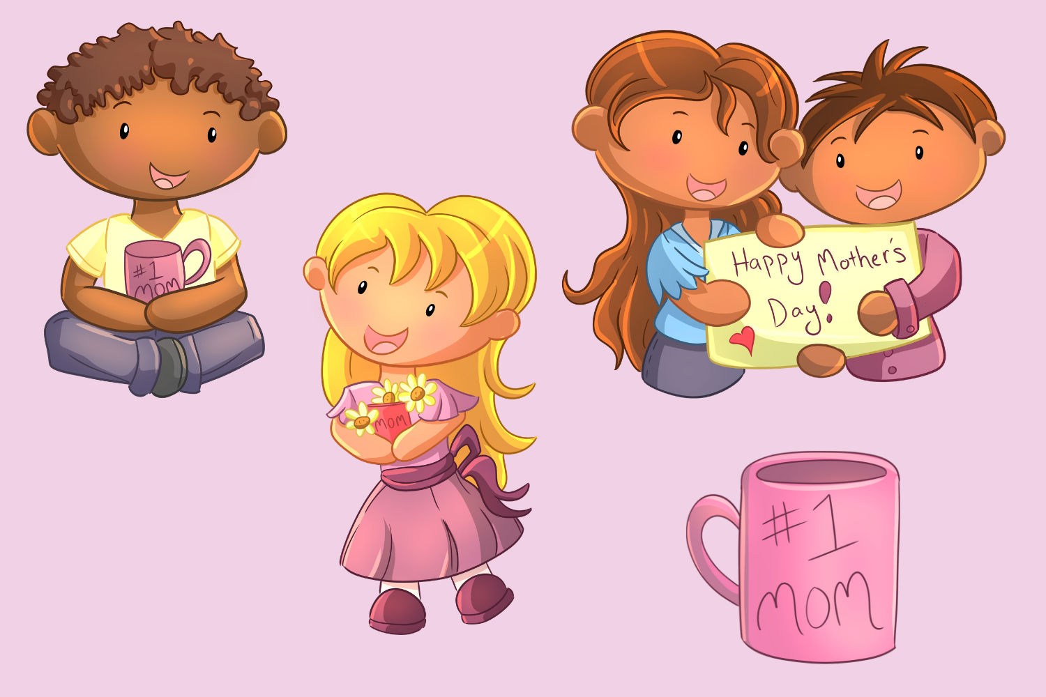 Mother's Day Clip Art Collection example image 3
