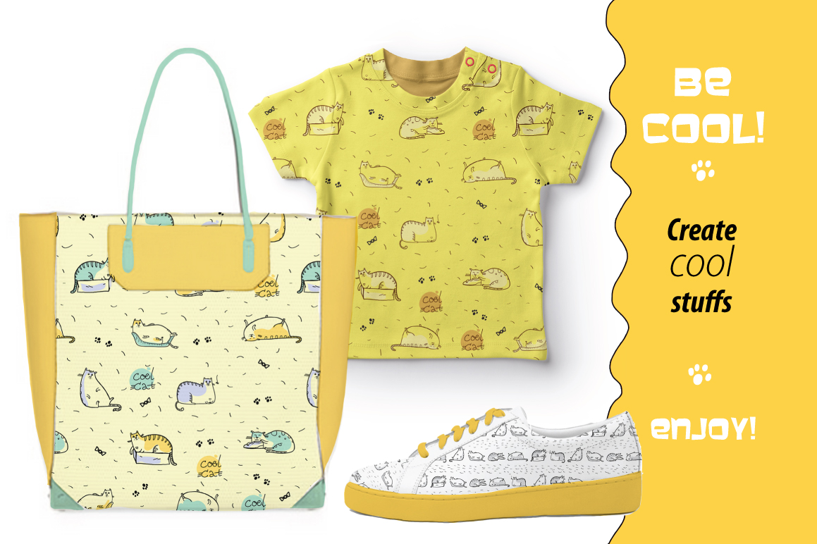Cool Cat collection patterns, prints example image 6
