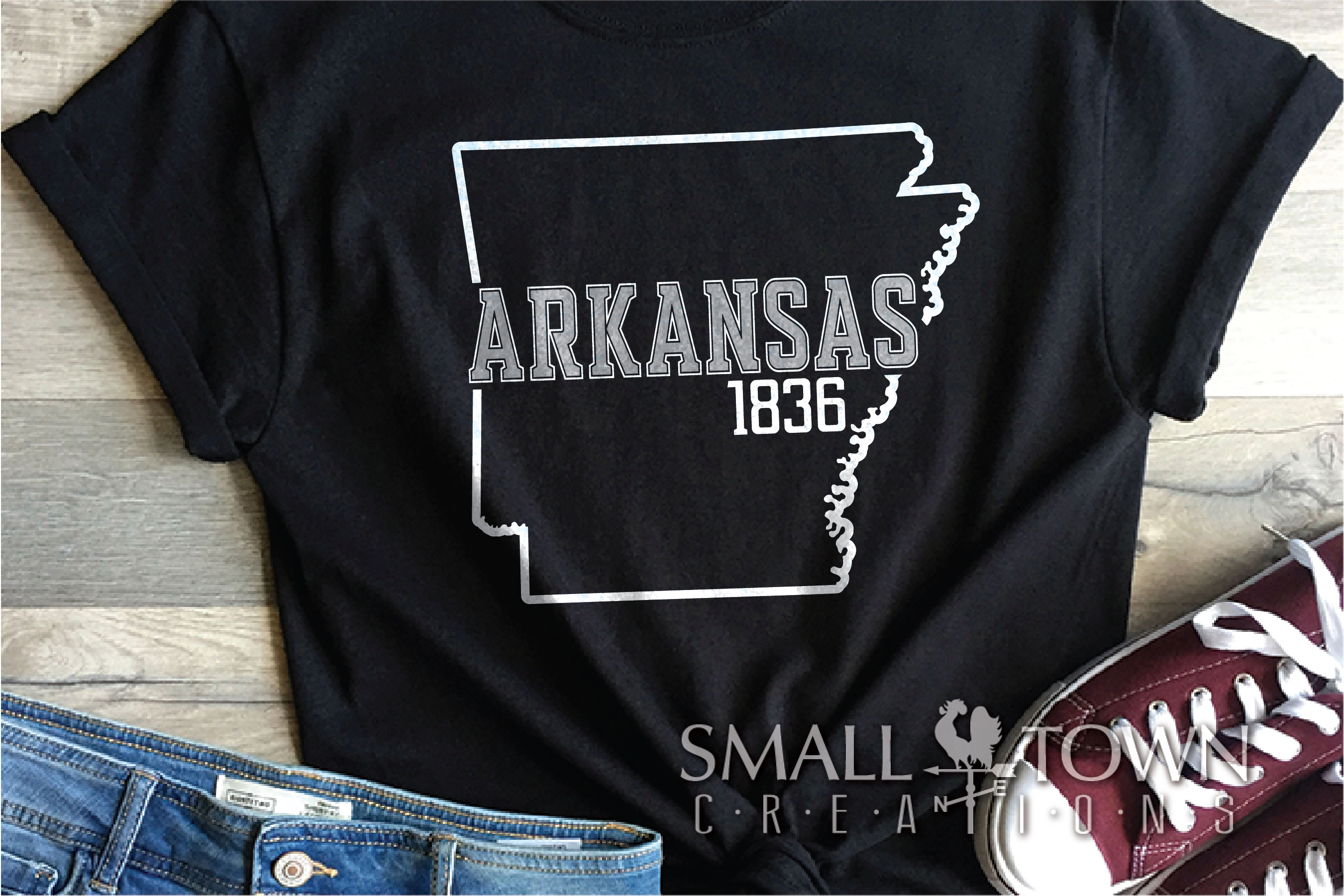 Arkansas, Land of Opportunity, Logo, PRINT, CUT & DESIGN example image 8