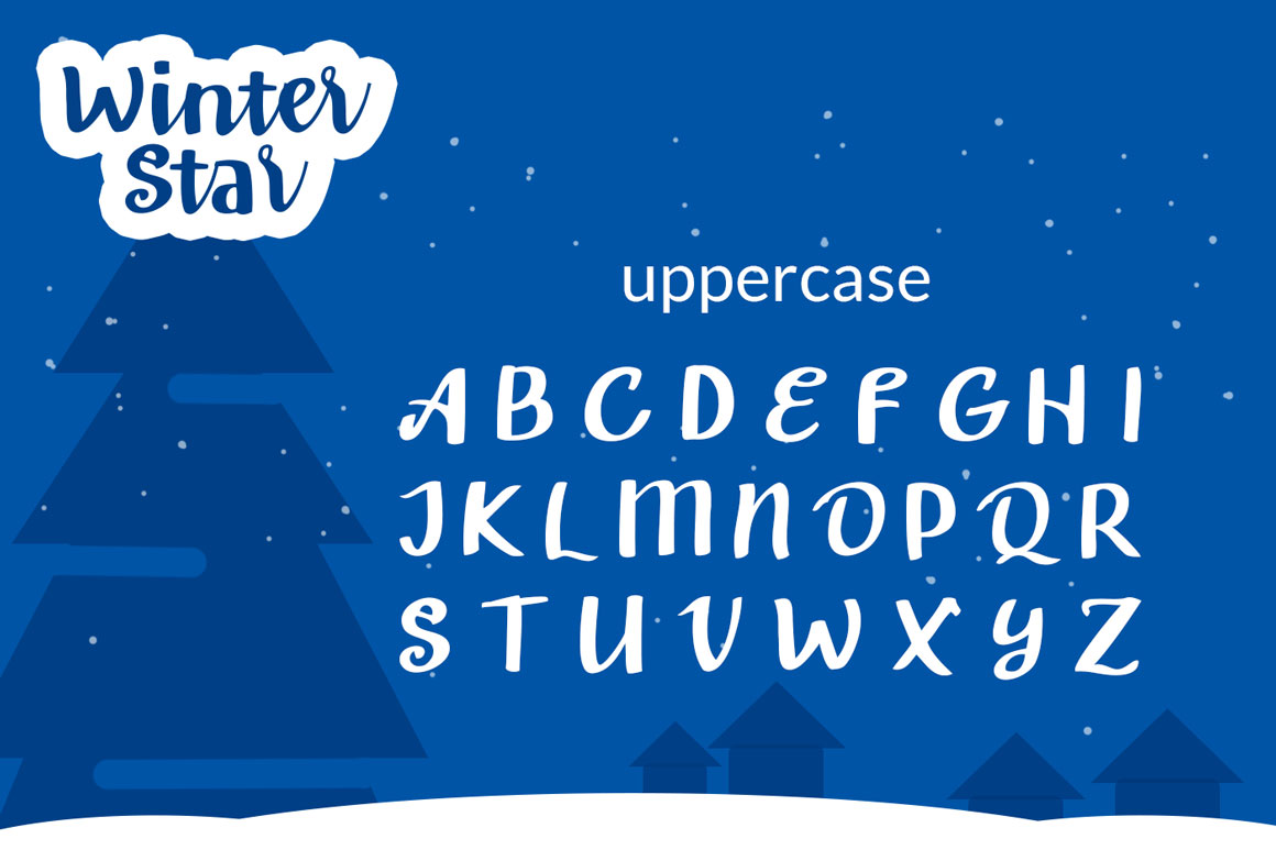 Winter Star - Playful Handwritten Font example image 6