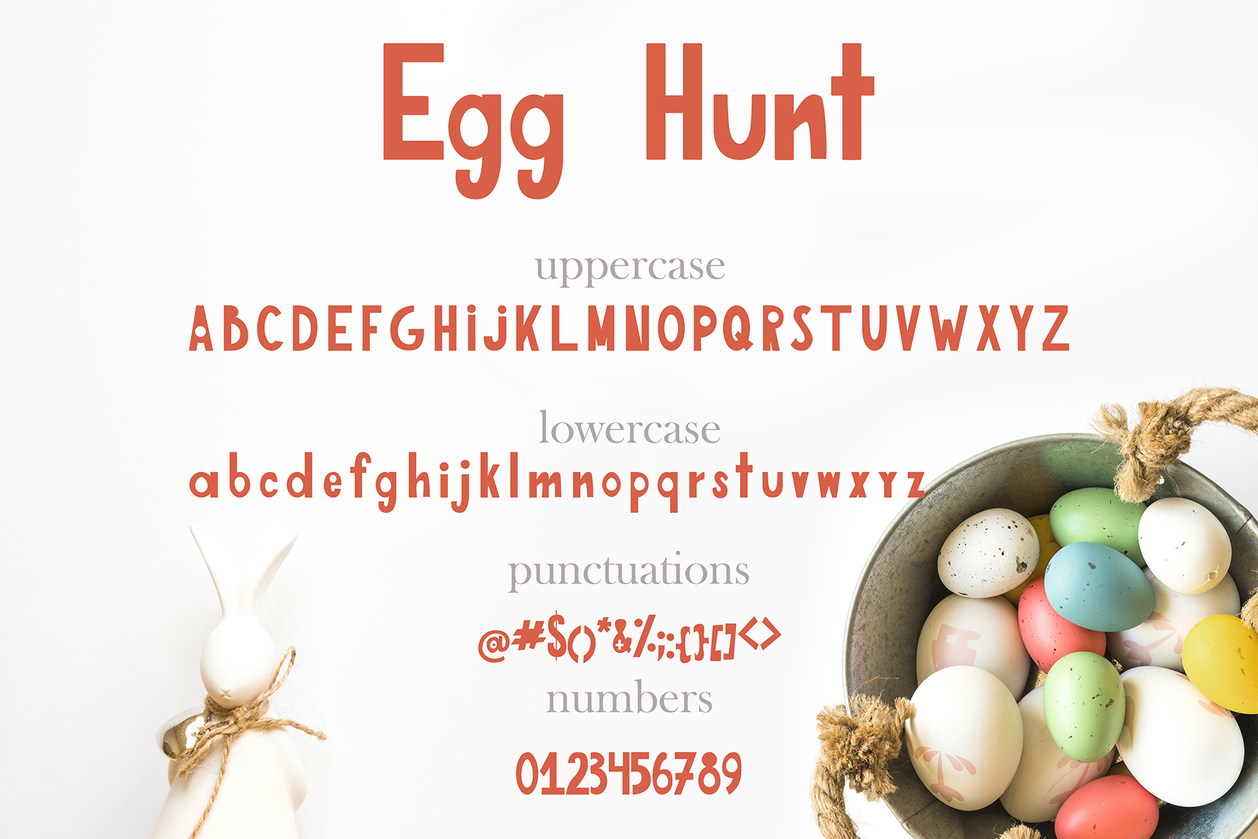 Egg Hunt-decorated font example image 4