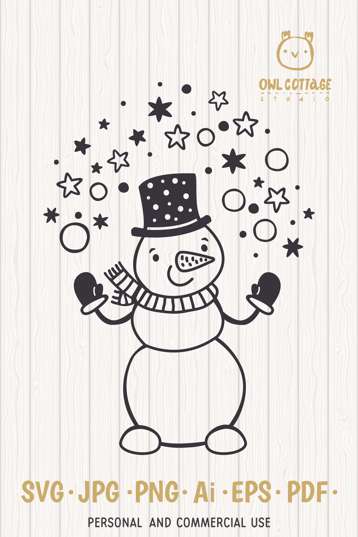 Let it Snow SVG Snowman, Snowman SVG, Christmas SVG example image 9