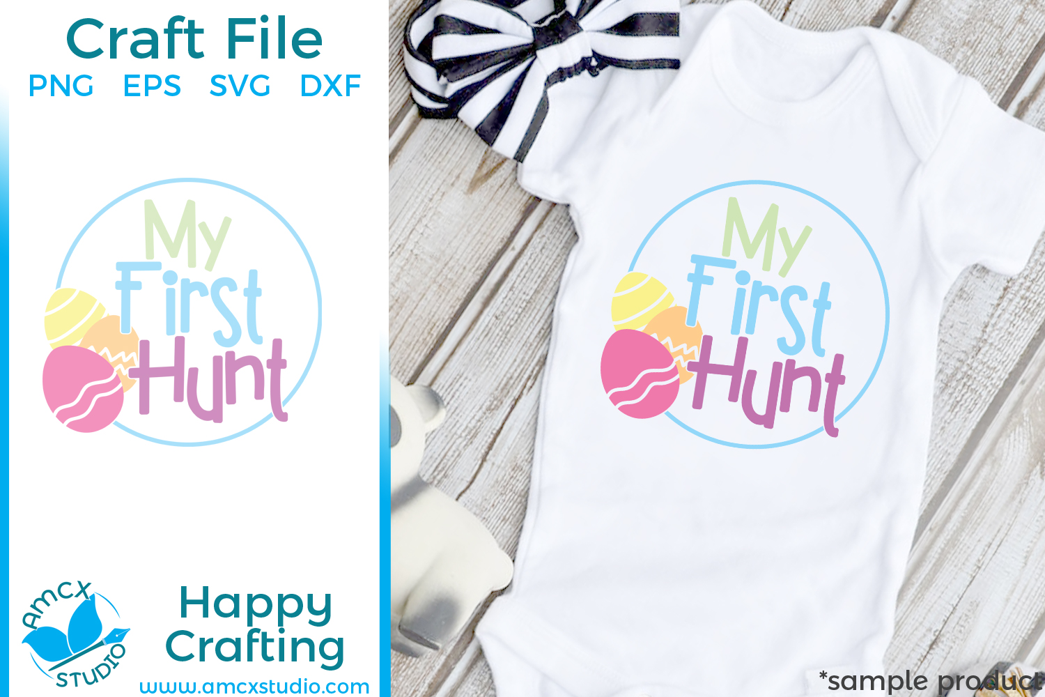 My First Hunt- Easter Cut Craft Files example image 1