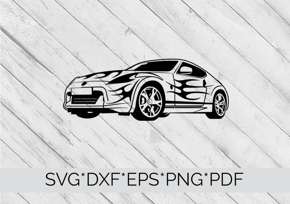 Sports Car  SVG Cutting File  example image 4