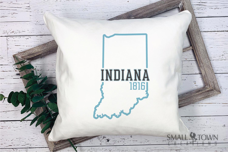 Indiana, Heritage state - slogan, Logo, PRINT, CUT & DESIGN example image 7
