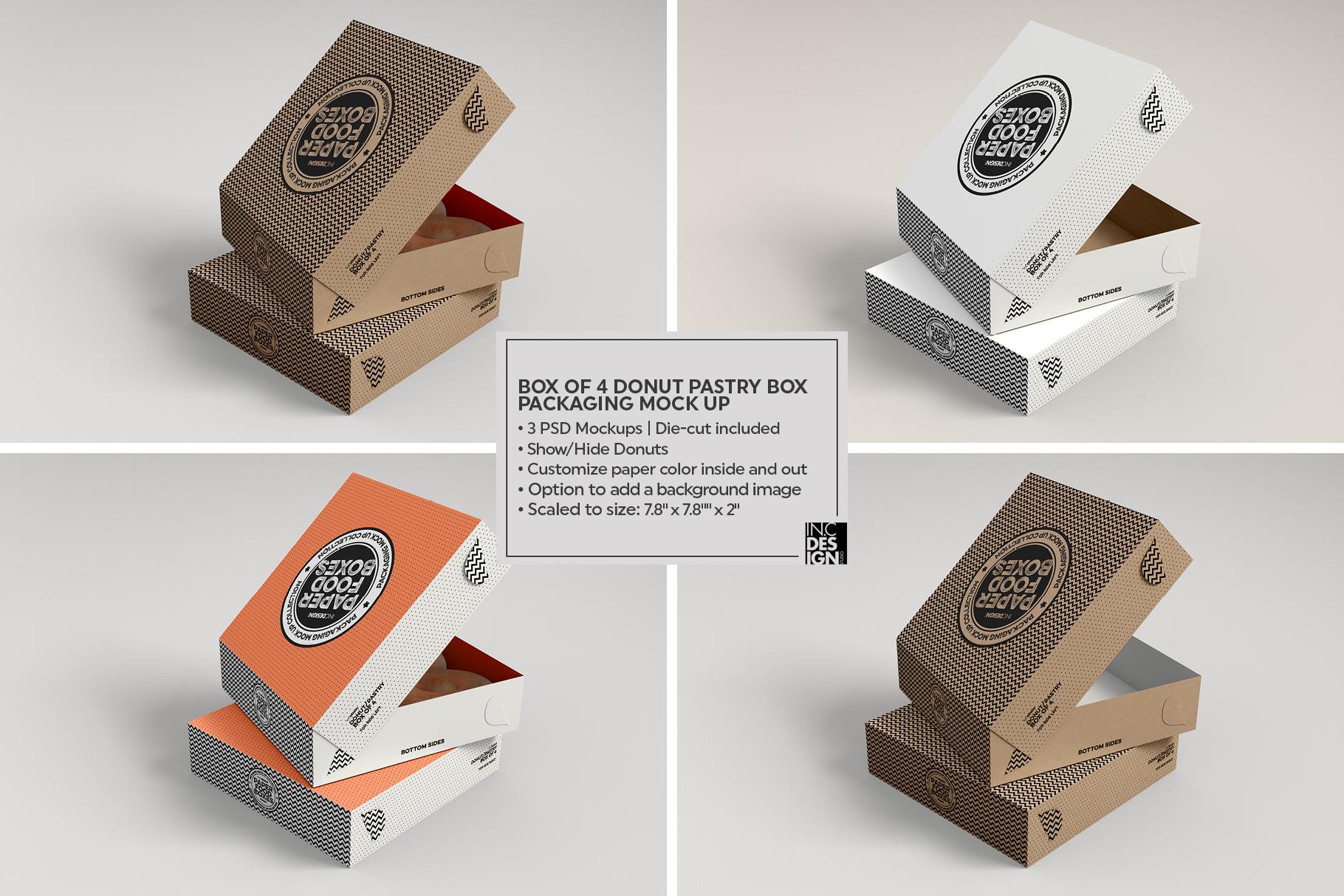 VOL.11 Food Box Packaging MockUps example image 18