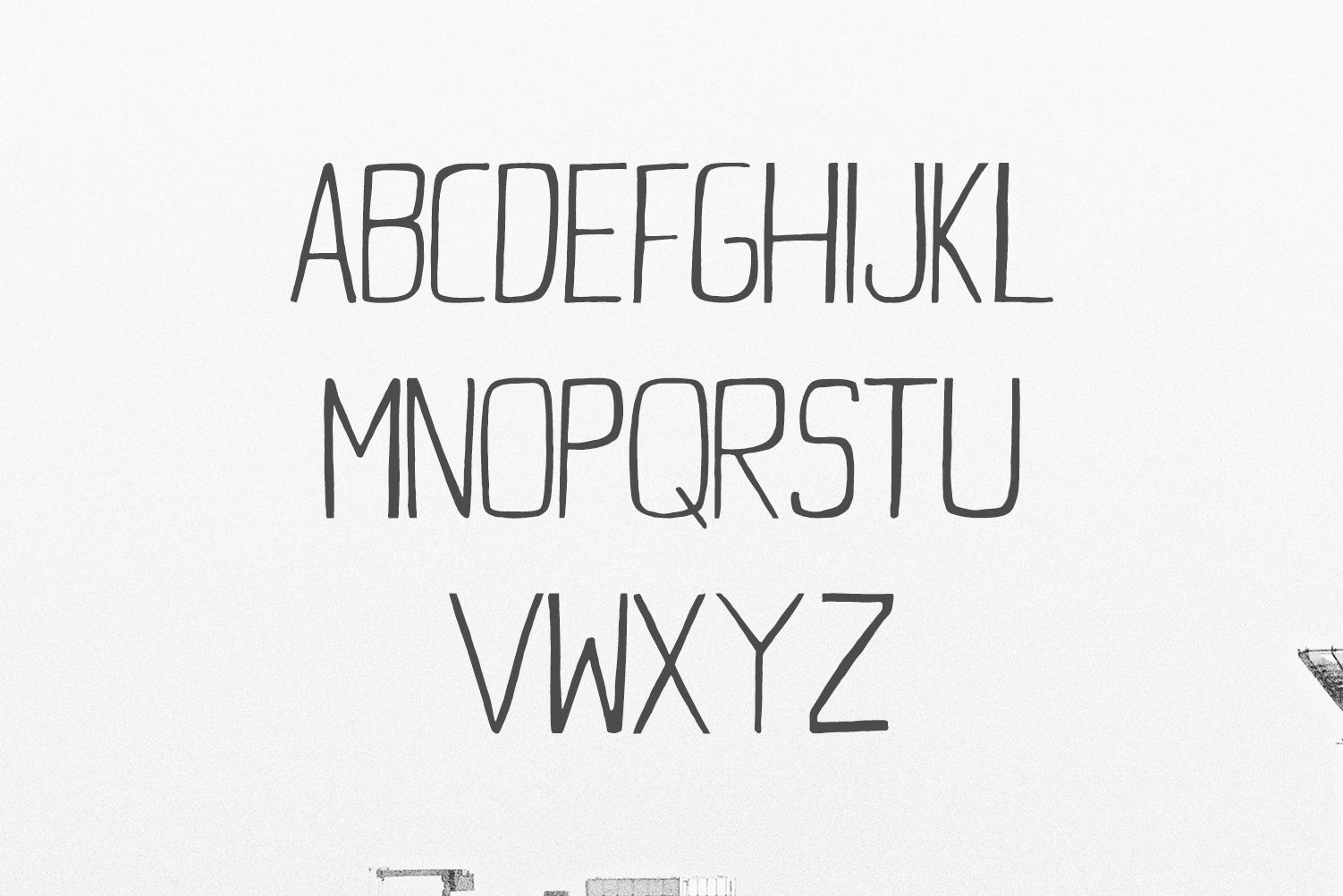 Daavi Handmade Sans Serif Font example image 2