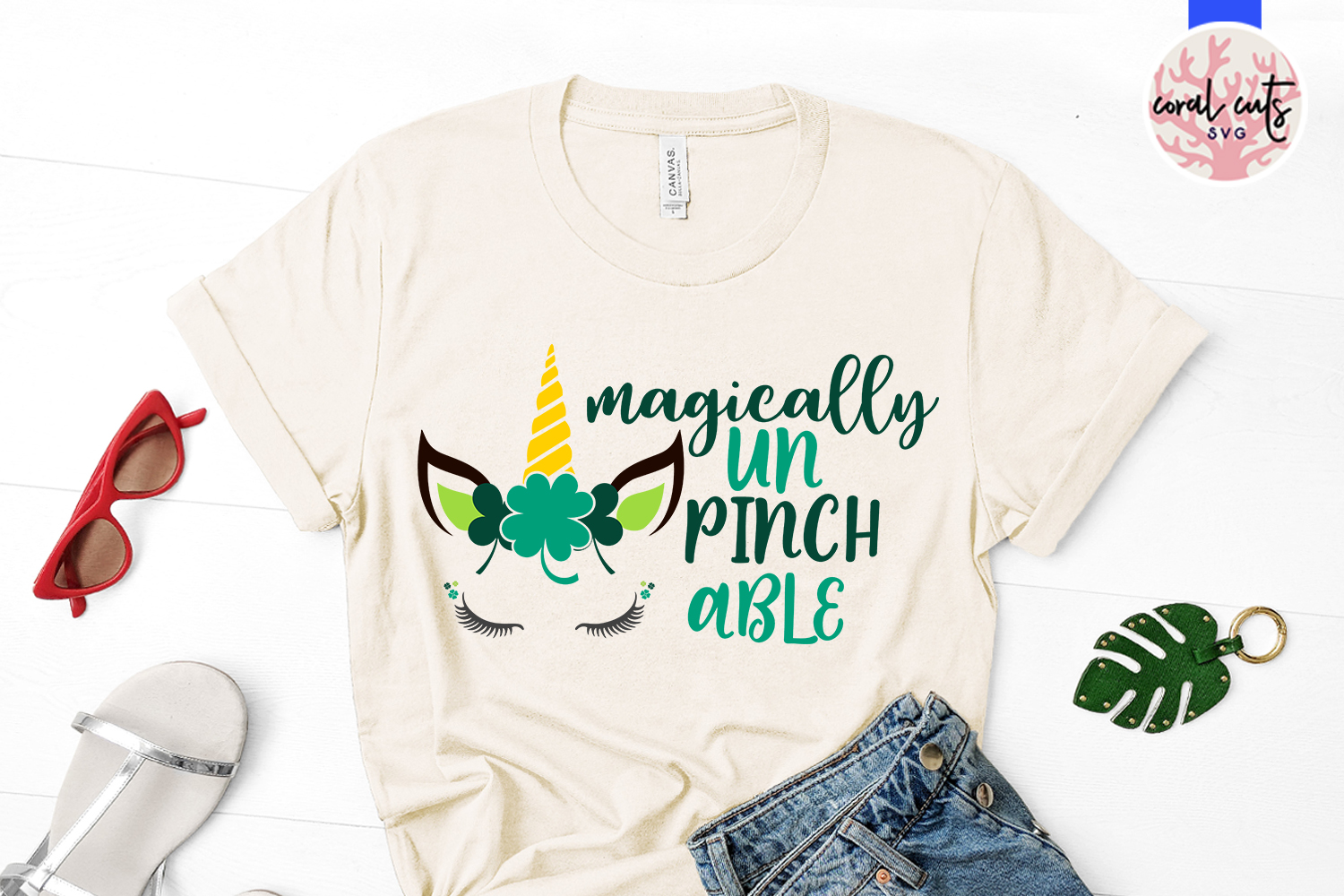 Magically UnPinchable Svg - St. Patrick's Day SVG EPS DXF example image 2