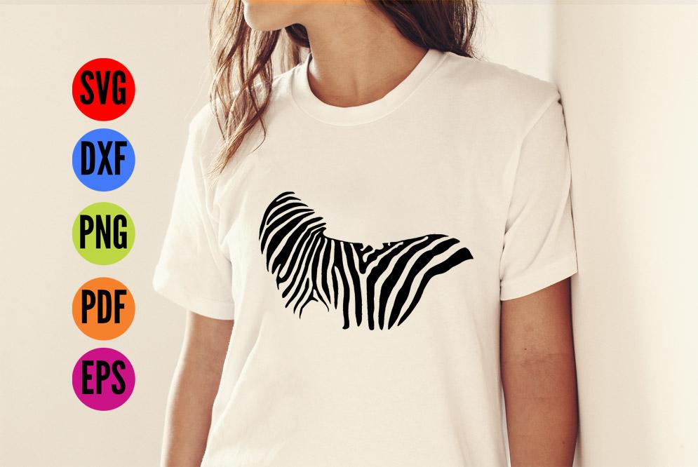 Zebra SVG  Cutting File  example image 4