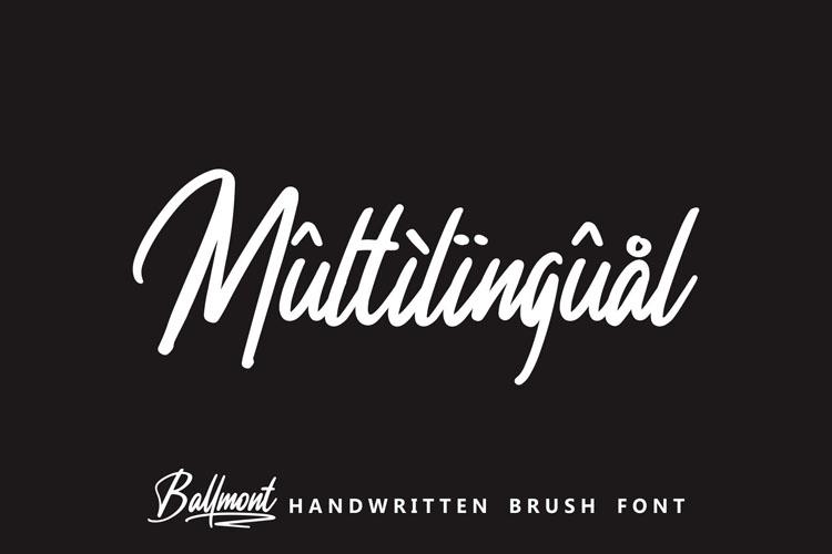 Ballmont - Handwritten Script Font example image 6