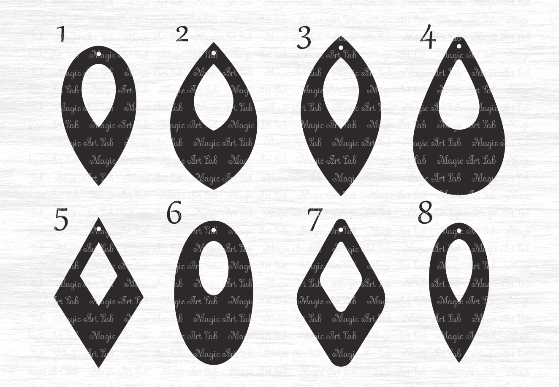 Earrings Svg File Earring Template Cut File Tear Drop