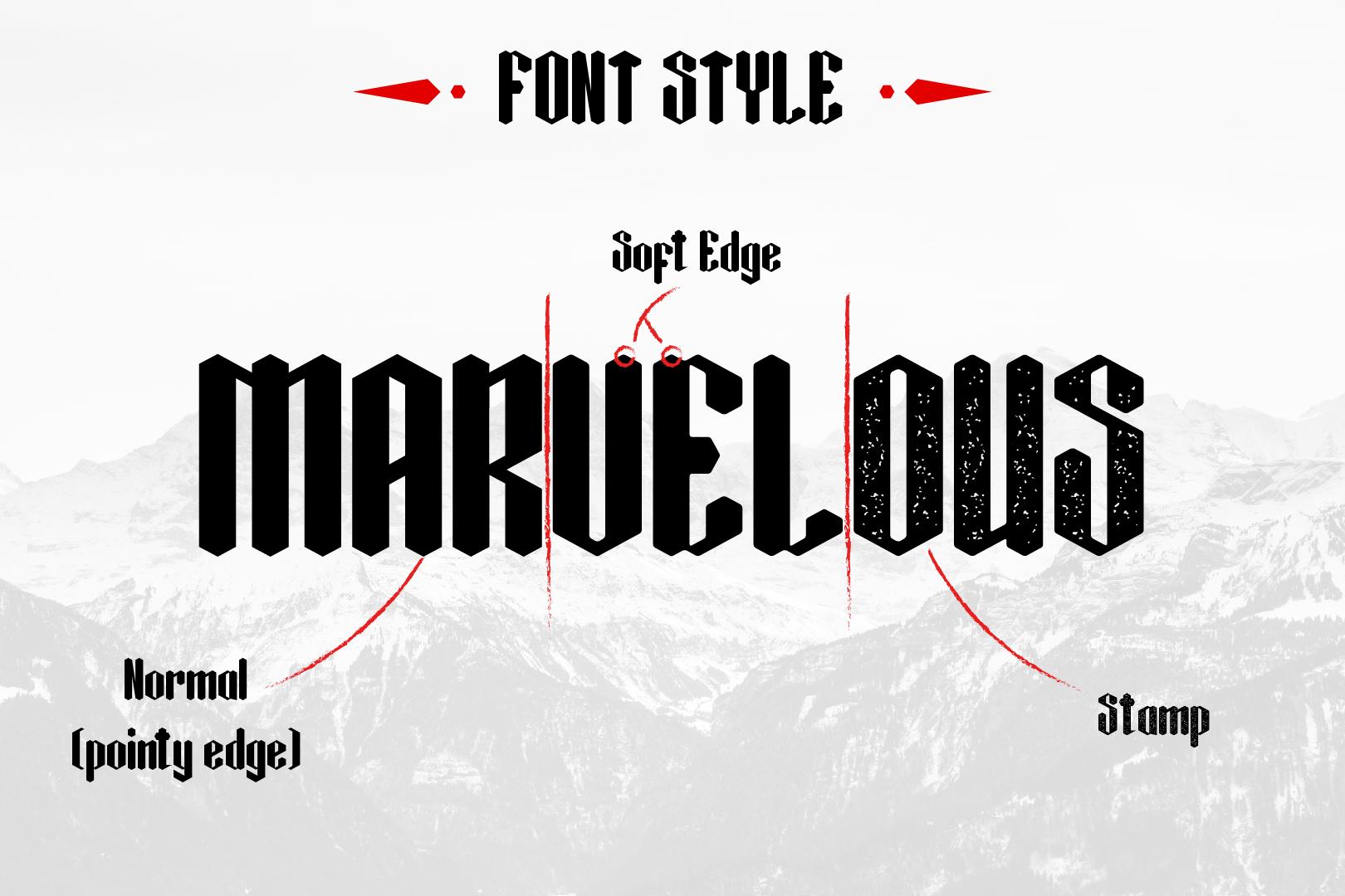 Black Krystal Font example image 3