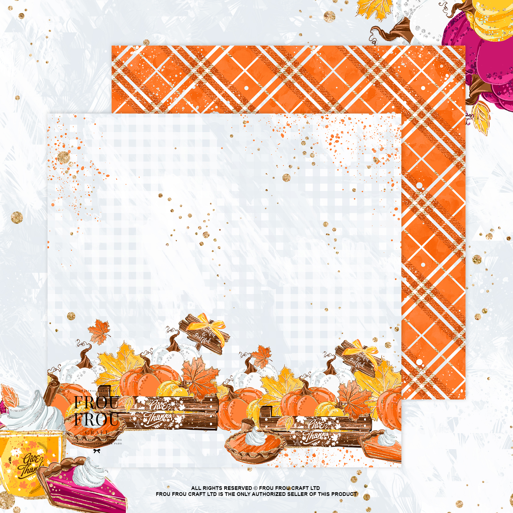 Sweets Cake Pumpkin Pie Fall Autumn Paper Pack example image 5