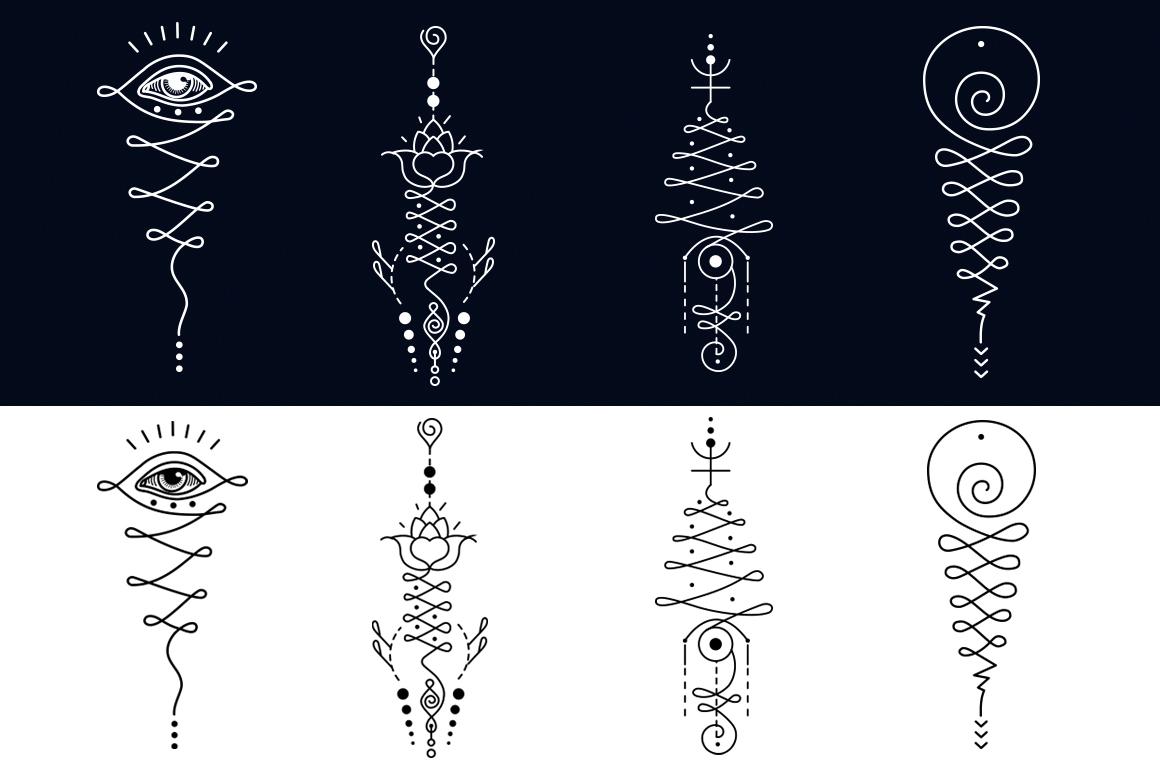 11 Unalome & lotus Sacred symbols example image 4