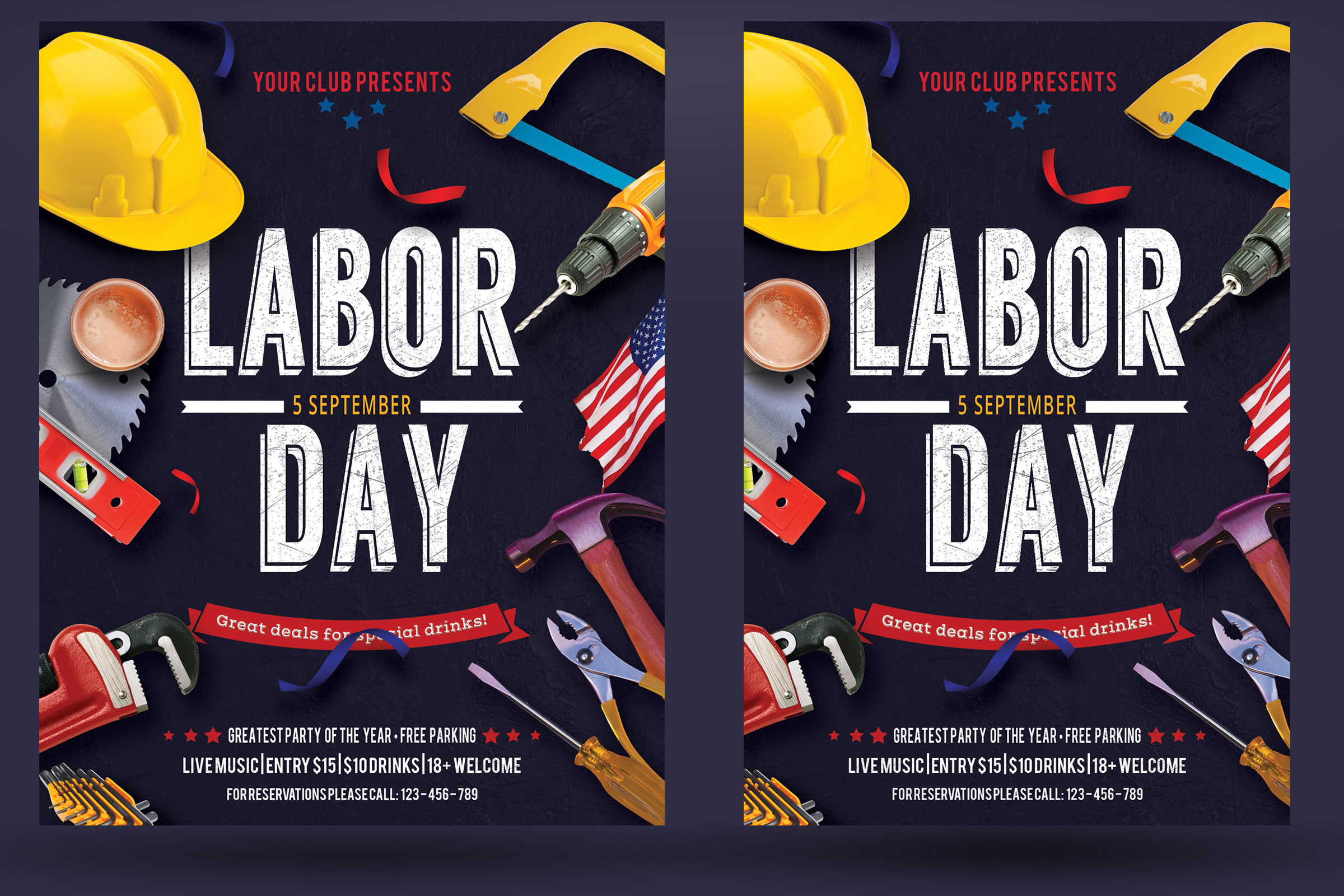 Labor Day Flyer Poster example image 2