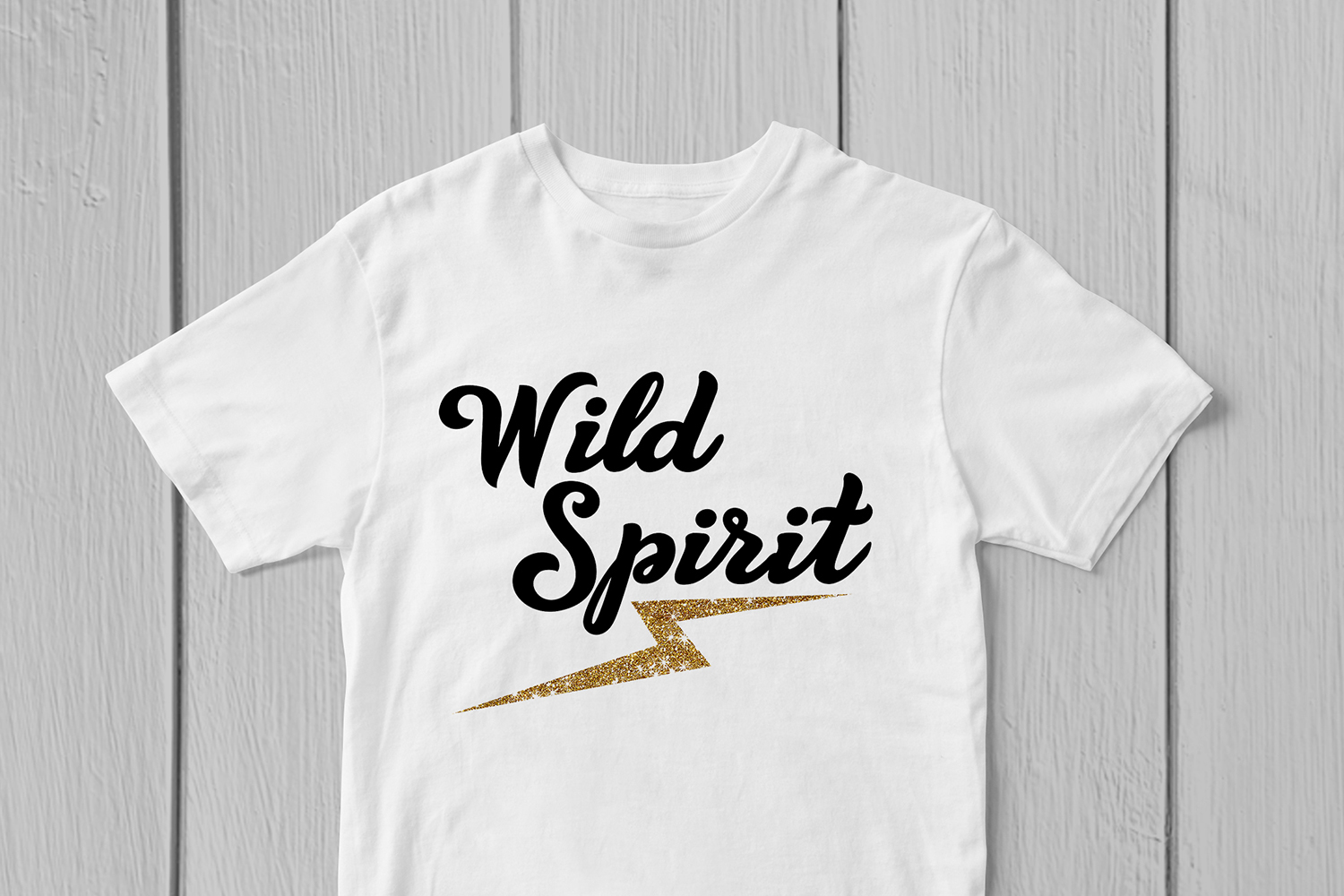 Wild Spirit - Motivational Quote SVG EPS DXF PNG Cut Files example image 3