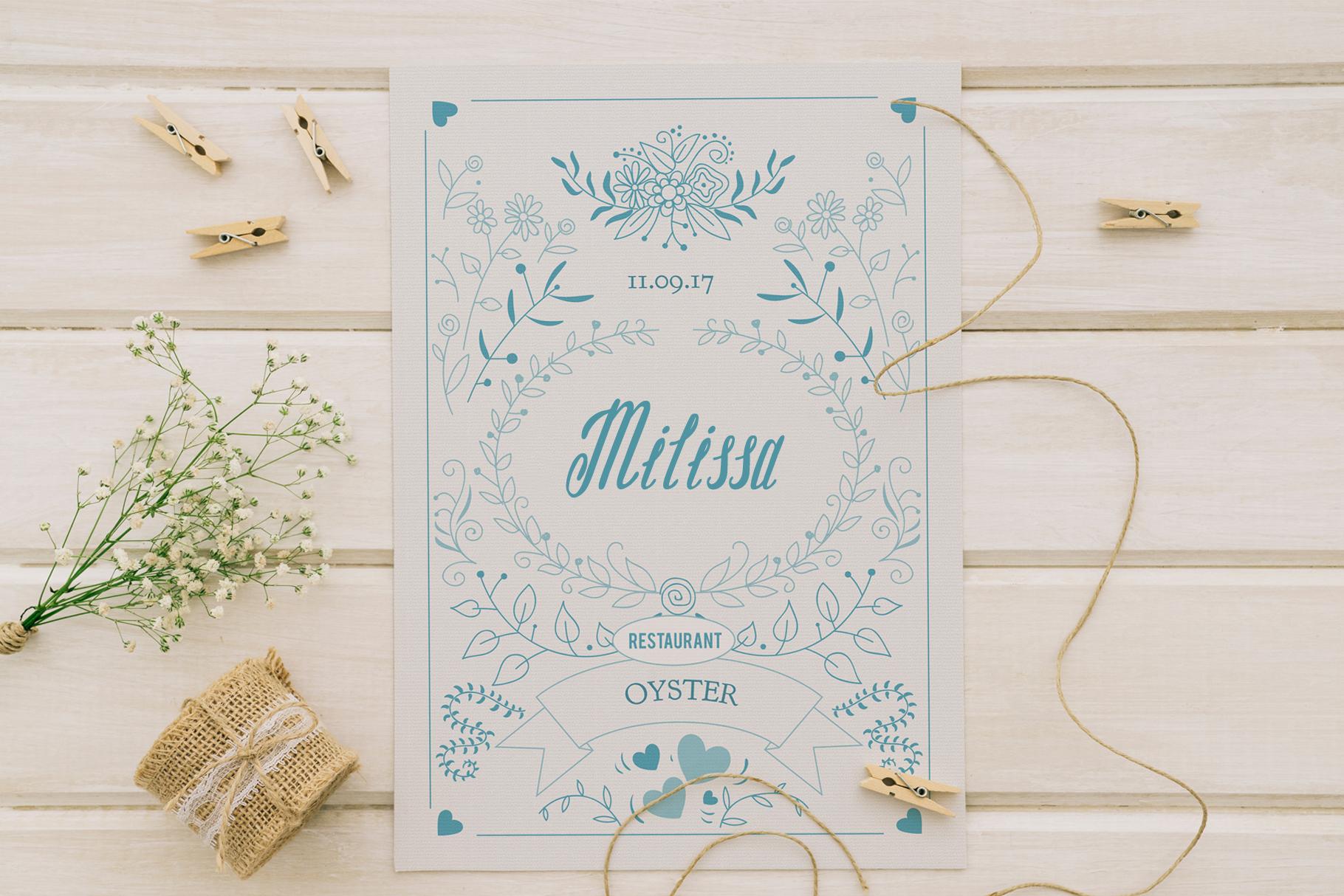 Milissa story script font example image 5