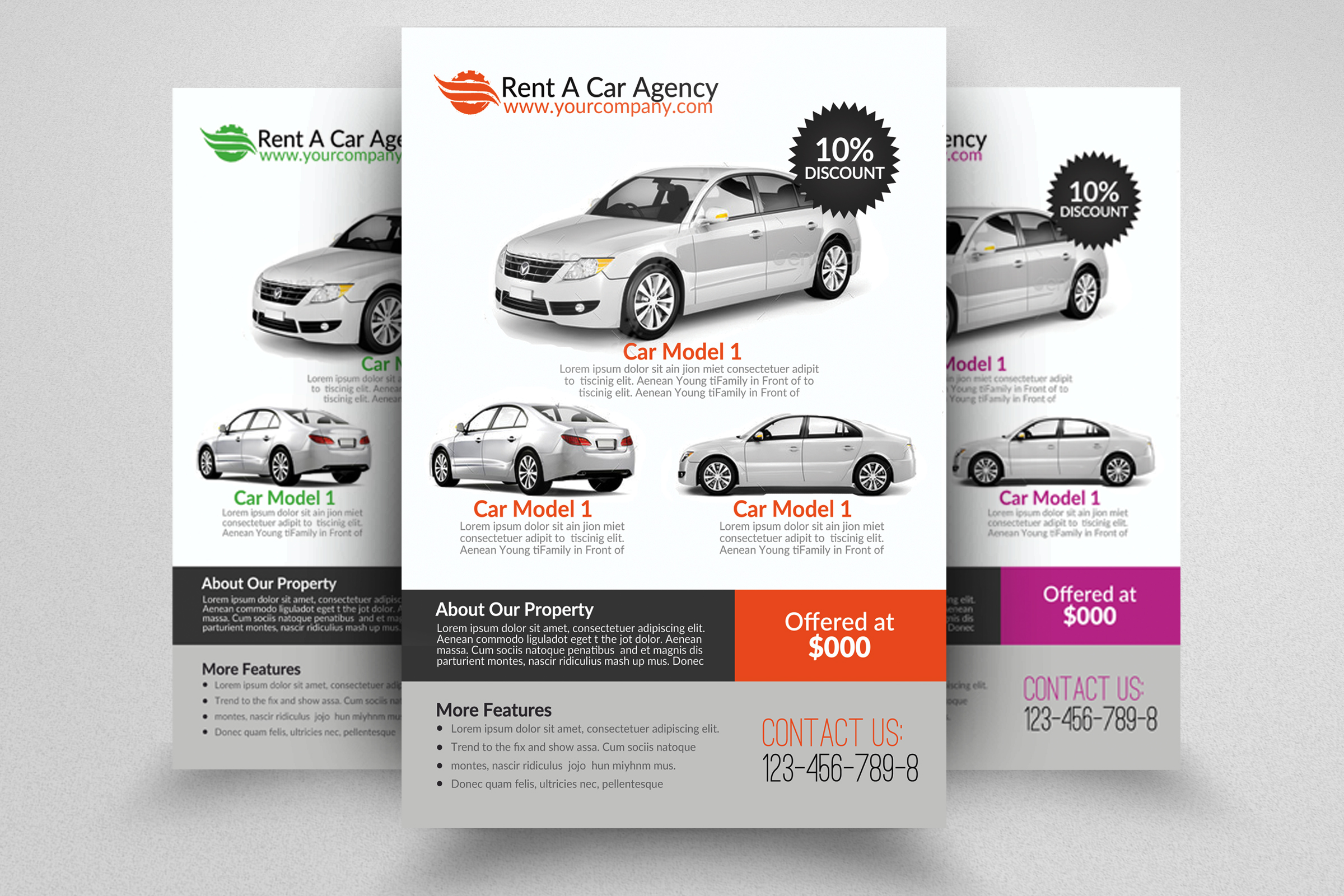 6 Rent A Car Flyers Bundle example image 6