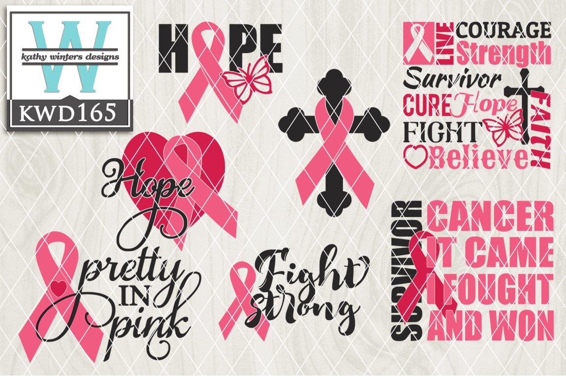 Breast Cancer Awareness Cutting File KWD165 example image 1