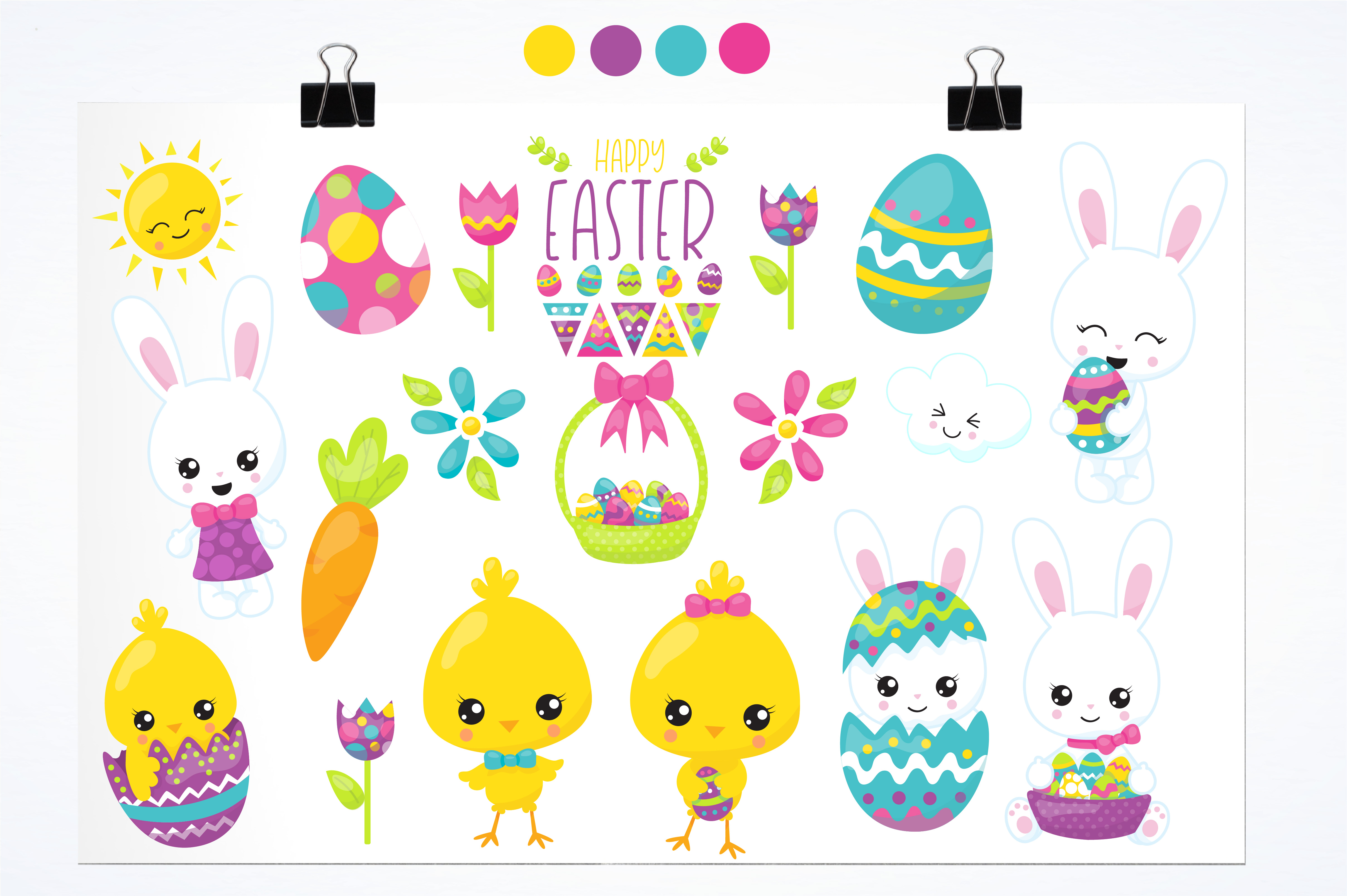 Happy Easter graphics and illustrations example image 2