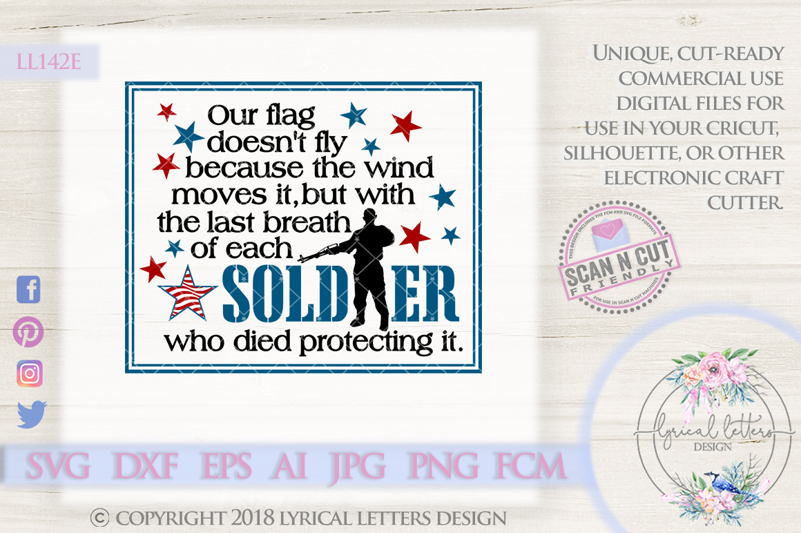 Last Breath of Each Soldier Military SVG Cut File LL142 E example image 1