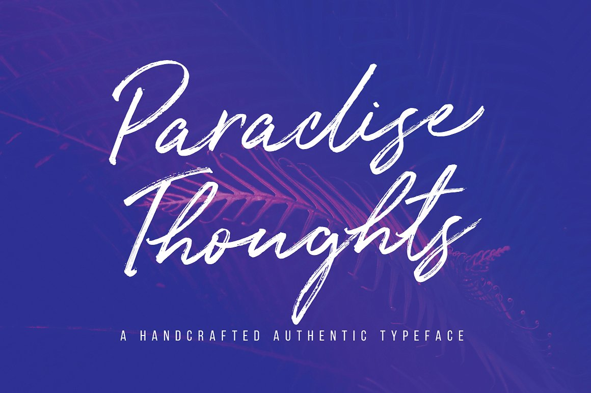 Paradise Thoughts Typeface example image 1
