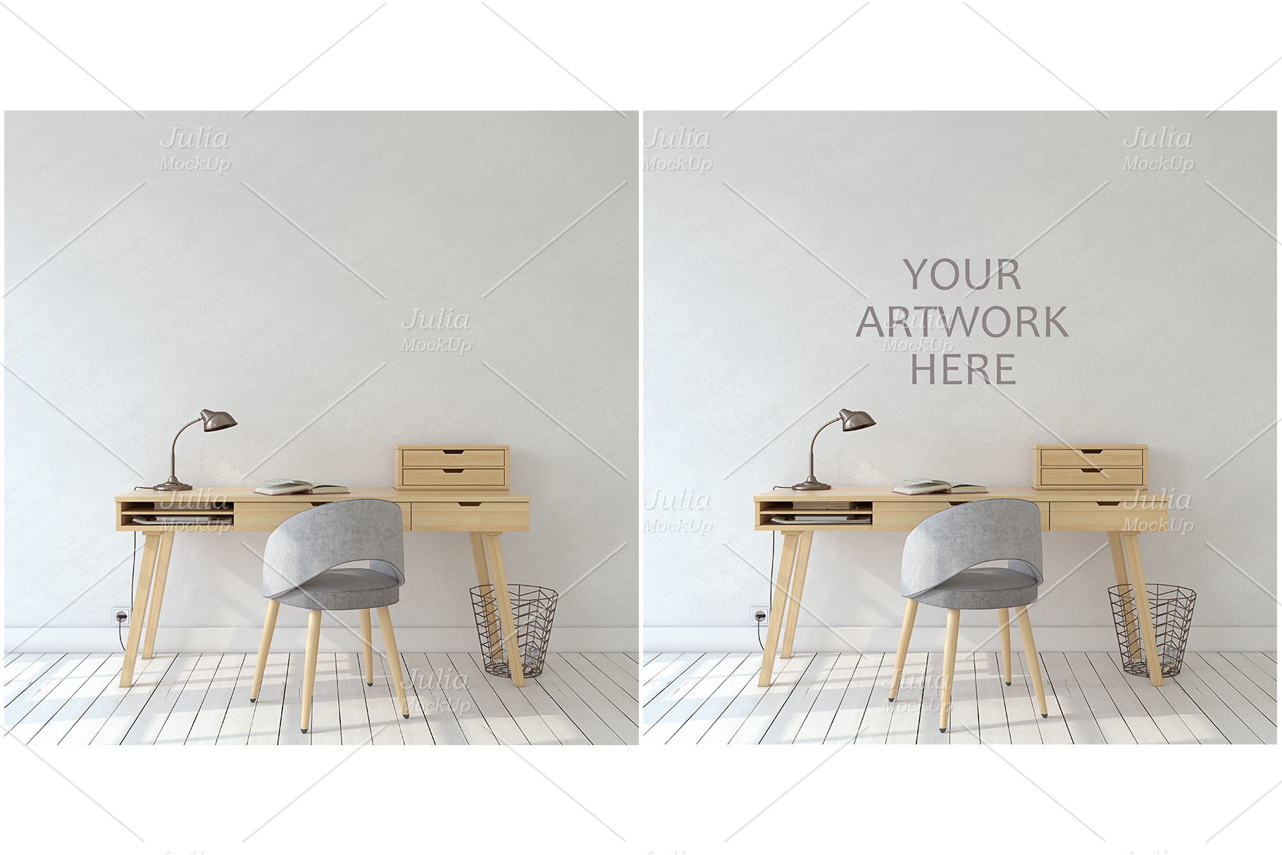 Home office. Frames&Canvases Mockup. example image 4
