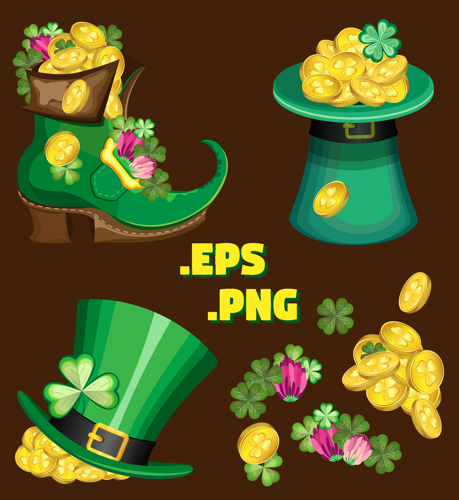 Set of elements for the st. Patrick`s Day example image 2