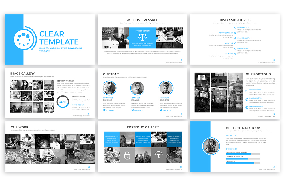 Clear Powerpoint Template example image 3