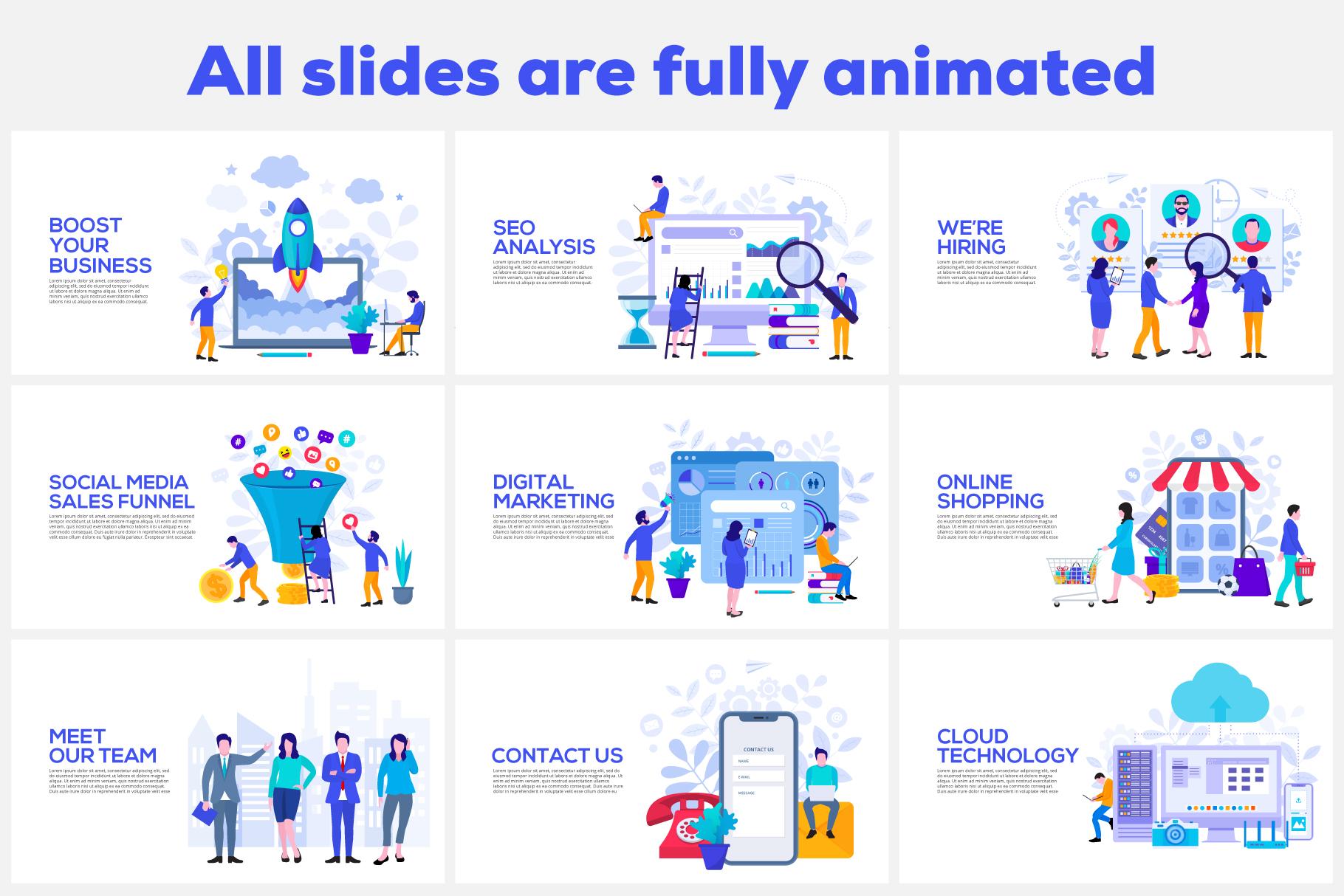 Flat animated illustrations example image 3