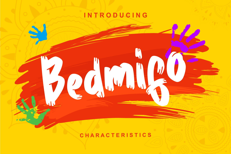 Bedmifo | Characteristics Script Font example image 1