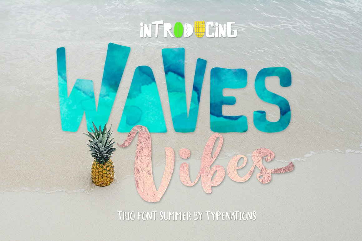 Waves Vibes Trio font example image 3