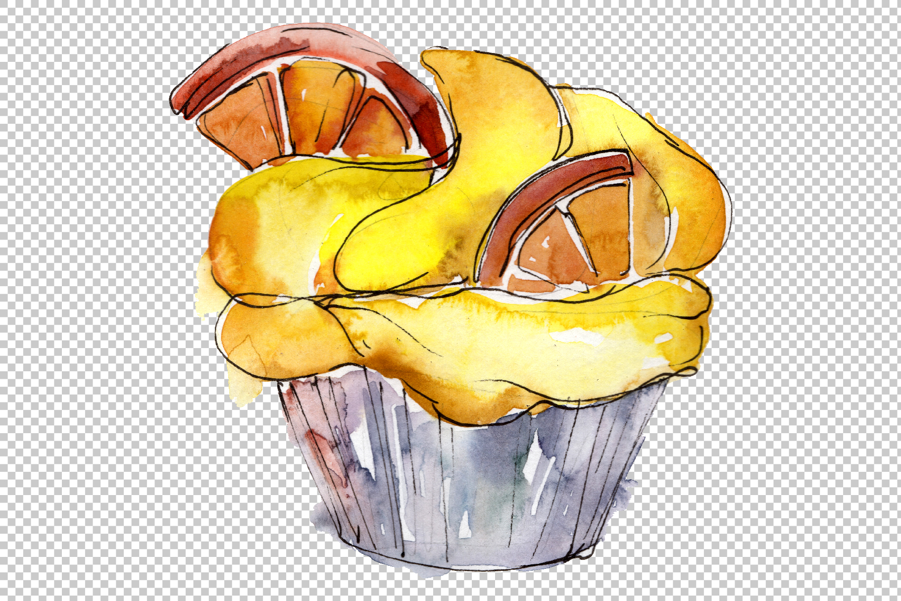 Dessert Friday Watercolor png example image 5