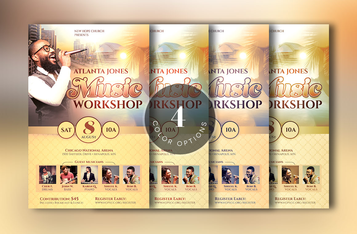 Church Music Workshop Flyer Template example image 4