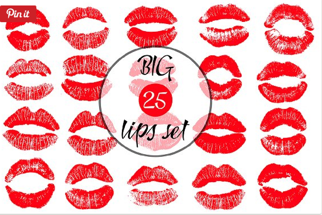 20 Lips vector set. example image 1
