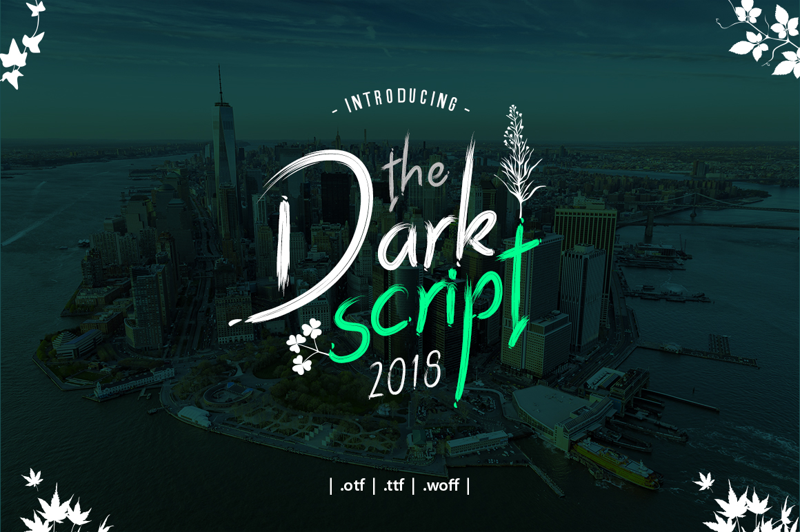 Dark Script Font example image 1