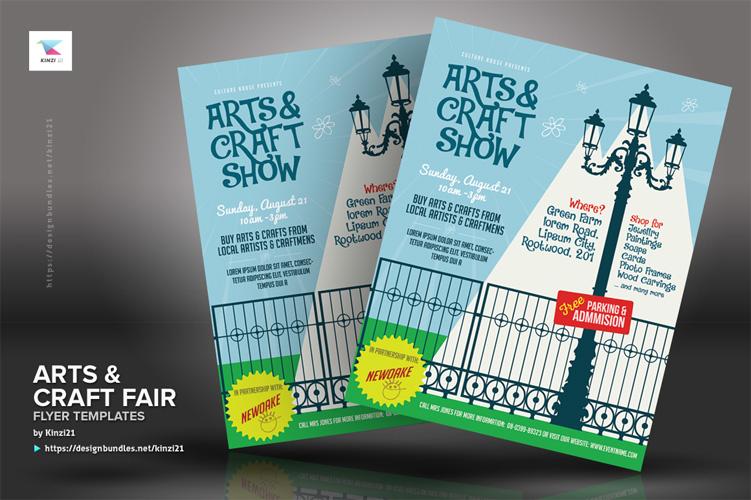 Arts & Craft Fair Flyer Templates example image 4